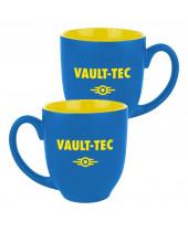 Fallout hrnček Vault-Tec Logo Blue/Yellow
