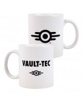 Fallout hrnček Vault-Tec Logo White