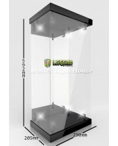 Master Light House Acrylic Display Case with Lighting pre 1/4 akčné figúrky (black)