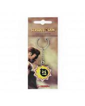 Serious Sam Metal Keychain Bomb Logo 4 cm
