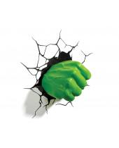 Marvel 3D LED lampa Hulk Fist