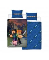Minecraft posteľné obliečky Reversible Good Guys 135 x 200 cm / 48 x 74 cm