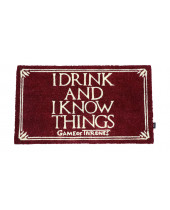 Game of Thrones rohožka - I Drink And I Know Things 43 x 72 cm