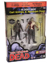 Walking Dead akčné figúrky 2-pack Abraham Ford and Carl Grimes 15 cm