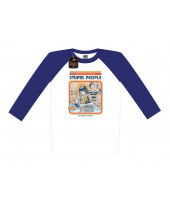 Steven Rhodes Raglan Baseball - Lets Find A Cure For Stupid People (T-Shirt, Long Sleeve)