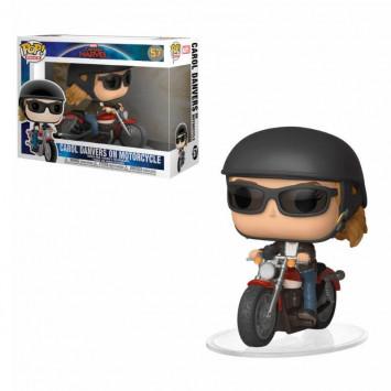 Pop! Rides - Captain Marvel - Carol Danvers on Motorcycle Super Sized 15 cm