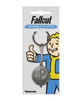 Fallout Metal Keychain Brotherhood of Steel 4 cm
