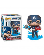 Pop! Marvel - Avengers Endgame - Captain America (With Broken Shield and Mjolnir)