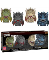Dorbz - Game of Thrones - Rhaegal, Drogon, Viserion, Icy Viserion (4-Pack)