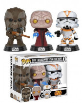 Pop! Star Wars - Tarful, Unhooded Emperor, Utapau Clone Trooper (3-Pack, Fall Convention Exclusive)