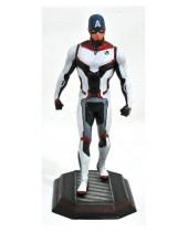 Avengers Endgame Marvel Movie Gallery PVC socha Team Suit Captain America Exclusive 23 cm