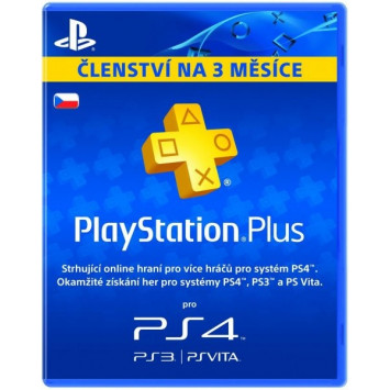 SONY PlayStation Plus Card 90 Day CZE (digitálny produkt)