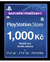 PlayStation Network Card (PSN Karta) 1000 Kč (krabicová verzia)