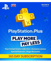 SONY PlayStation Plus Card 365 dní UK (krabicová verzia)