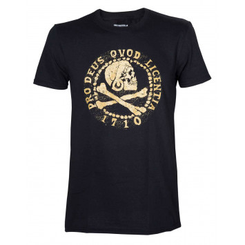 Uncharted 4 Skull Logo Gold (T-Shirt)