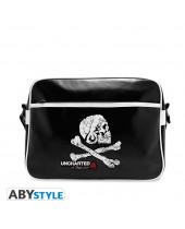 Uncharted 4 Skull Vinyl Messenger Bag