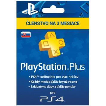 SONY PlayStation Plus Card 90 dní SK (digitálny produkt)