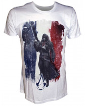Assassins Creed Unity French Flag with Arno (T-Shirt)