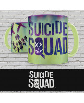 Suicide Squad hrnček Characters and Logo