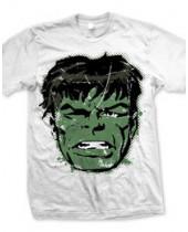 Marvel Comics Hulk Big Head Distressed (T-Shirt)