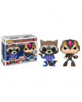 Pop! Games - Marvel vs. Capcom Infinite - 2-Pack Rocket vs. MegaMan