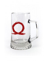 God of War Beer Pint Glass Serpent Logo