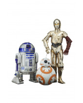 Star Wars Episode 7 PVC Statue 3-Pack 1/10 C-3PO and R2-D2 and BB-8