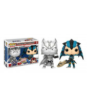 Pop! Games - Marvel vs. Capcom Infinite - 2-Pack Black Panther vs Monster Hunter Silver