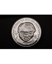 Childs Play Collectable Coin 25th Anniversary Chucky (silver plated)