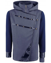 Dishonored 2 Hoodie - Corvo Hooded Zip Dark Blue