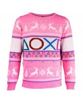 PlayStation vianočný sveter - ružový