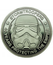 Original Stormtrooper Collectable Coin 40 Years Protecting The Empire (silver plated)