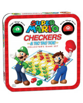 Super Mario stolová hra Checkers Collectors Game (English Version)