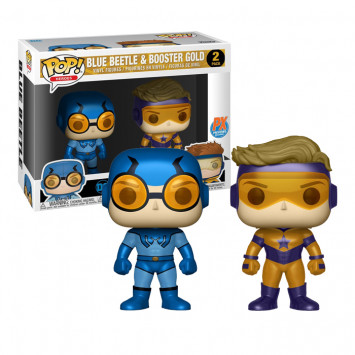 Pop! Heroes - DC Super Heroes - Blue Beetle and Booster Gold Metallic - 2-Pack LC Exclusive