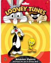 Looney Tunes ohybné postavičky 2-Pack Sylvester the Cat and Tweety Bird 6 - 15 cm