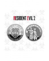 Resident Evil 2 Collectable Coin Leon and Claire (silver plated)