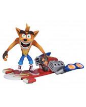 Crash Bandicoot akčná figúrka Deluxe Hoverboard 14 cm