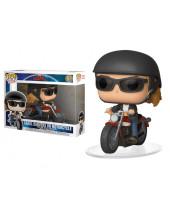 Pop! Rides - Captain Marvel - Carol Danvers on Motorcycle Super Sized 24 cm