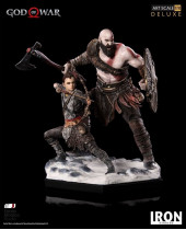 God of War Deluxe Art Scale socha 1/10 Kratos and Atreus 20 cm