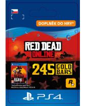 Red Dead Online - 245 Gold Bars (CZ PSN) (digitálny produkt)