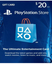 Playstation Network Card (PSN) $20 (USA) (digitálny produkt)